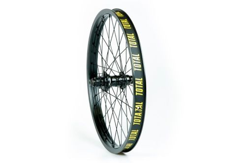 Total BMX Techfire Cassette Rear Wheel - Black Hub With Black Rim 9 Tooth